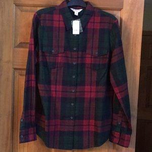 NWT Brooks Brother's women's plaid shirt